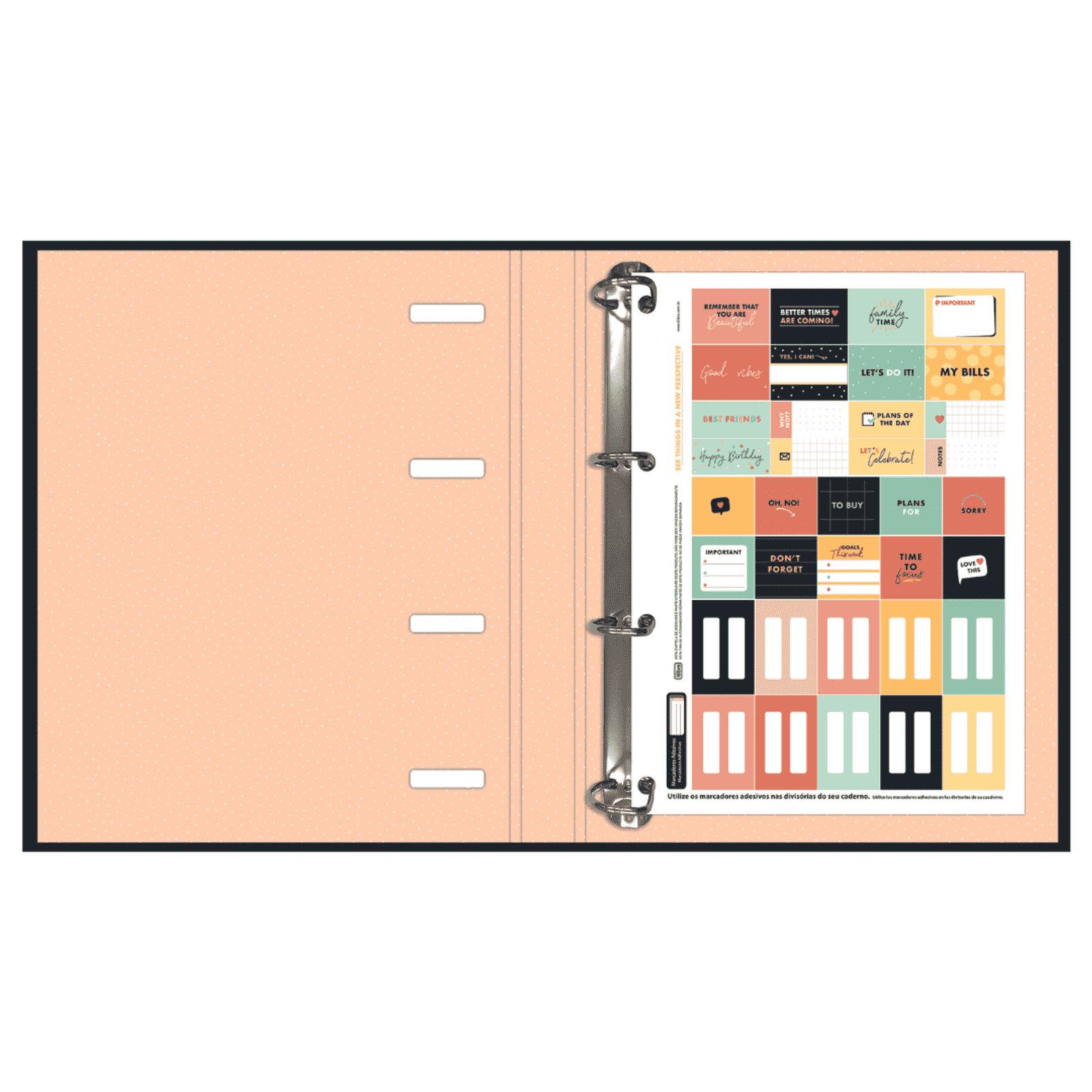 Caderno Argolado Cartonado Universitário com Elástico West Village 80 Folhas - Tilibra