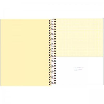 Caderno Espiral Capa Plástica Colegial 1 Matéria Happy 80 Folhas TILIBRA