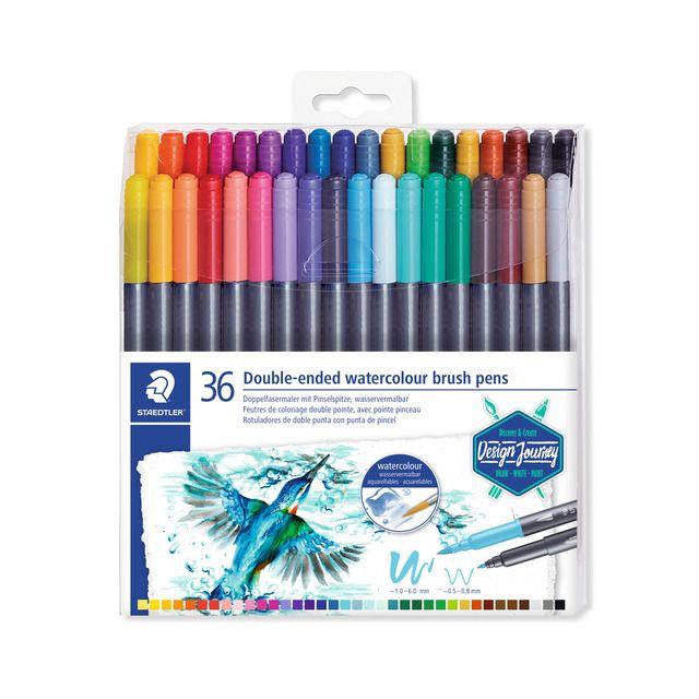 Caneta Brush Pen STAEDTLER Ponta Dupla 36 unds