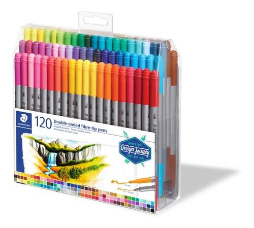 Caneta de ponta dupla de fibra STAEDTLER® 3200 - 120 canetas