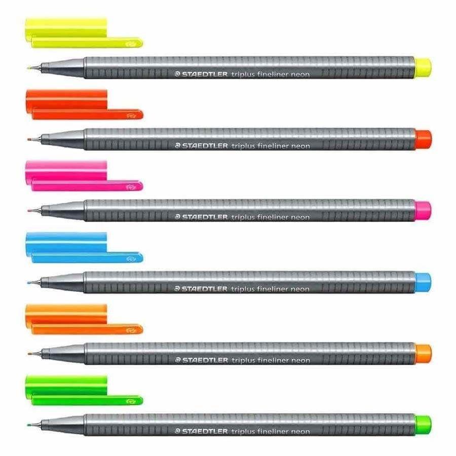Caneta Hidrográfica Staedtler Triplus Fineliner 0.3mm com 06 Cores Neon