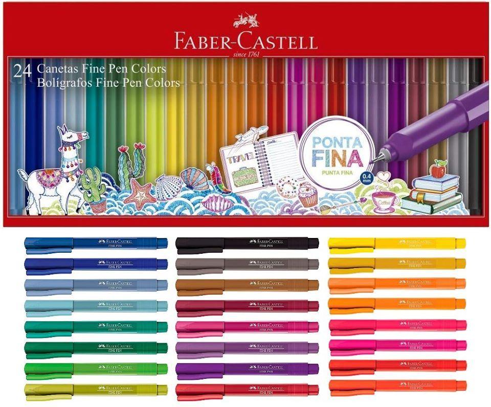 Caneta Ponta Porosa Fine Pen 0,4mm 24 cores - FABER-CASTELL