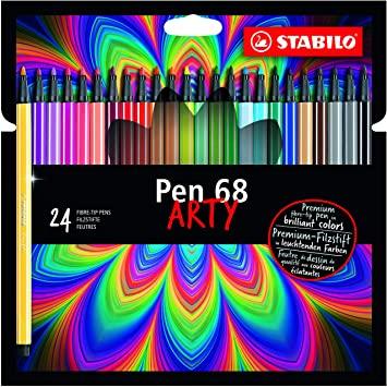 CANETA STABILO PEN ARTY 1.0 HIDROGRÁFICA 68 ESTOJO COM 24