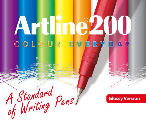CANETAS ARTLINE 200 0.4MM COM 8 CORES (GLOSSY VERSION)