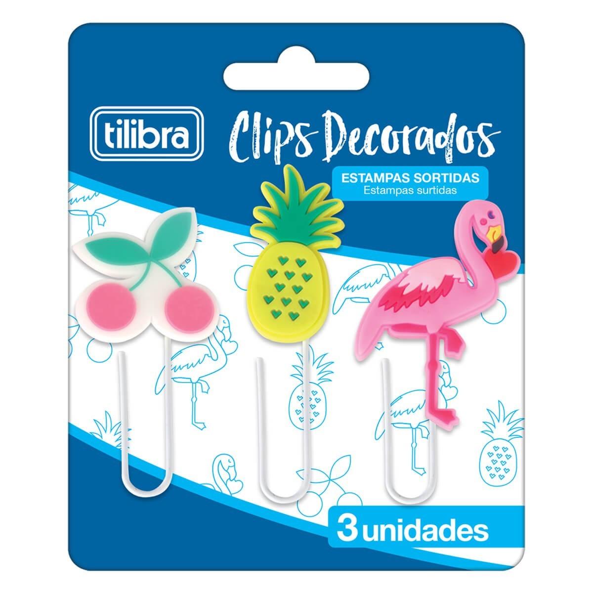 Clips Decorado Tilibra - 3 UN