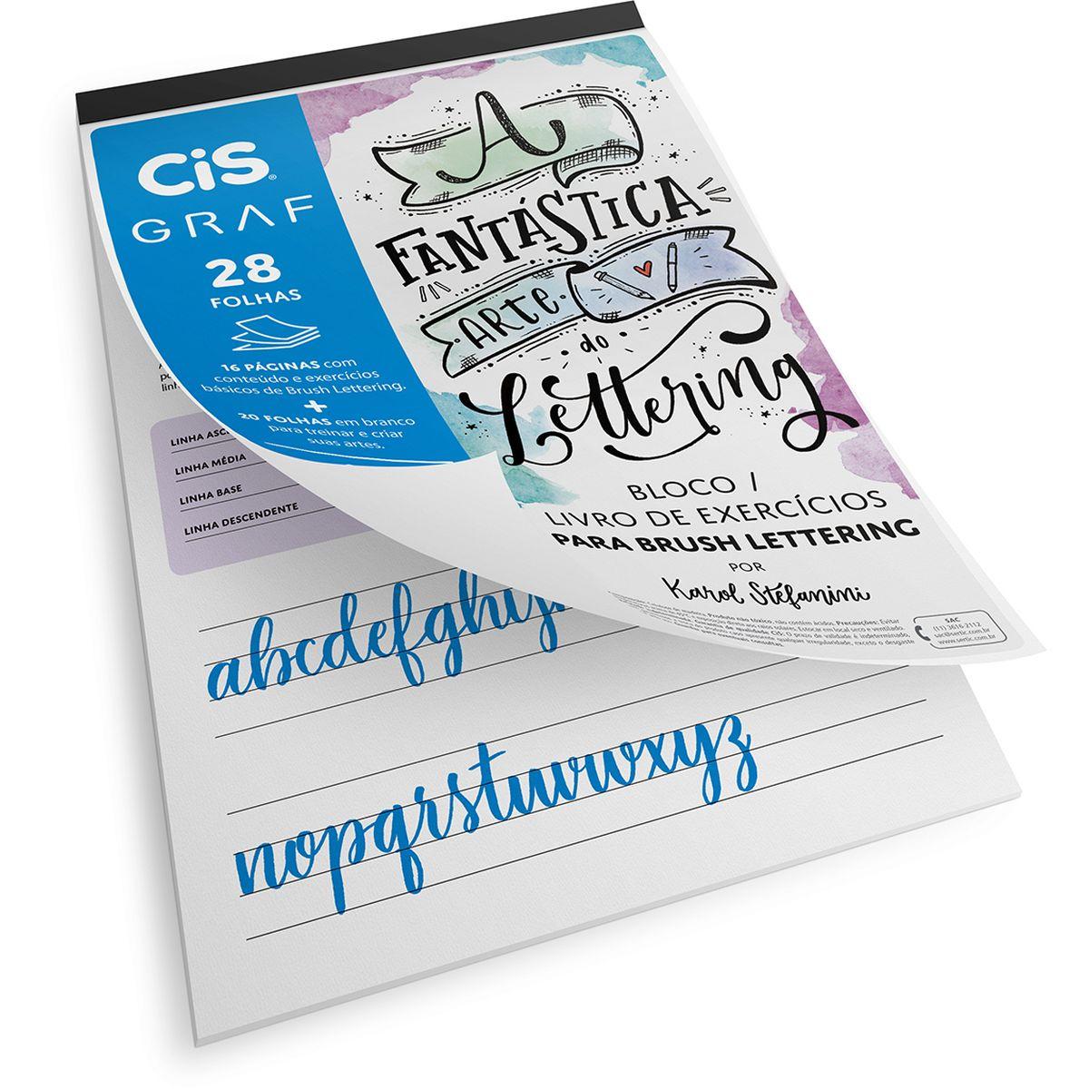 Kit para Brush Lettering Cis Graf com 9 Peças
