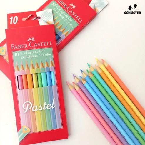 Lápis de Cor 10 cores pastel triangular 120510P Faber Castell