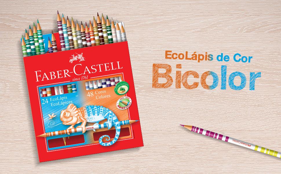 Lápis de Cor 48 cores Bicolor redondo Faber Castell