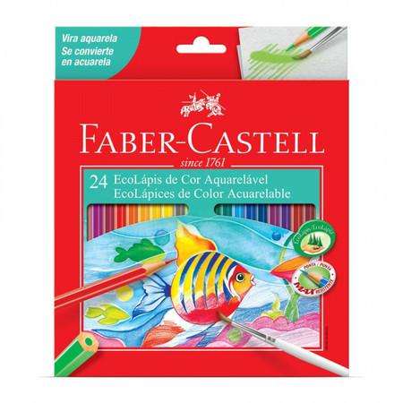 LÁPIS DE COR FABER CASTELL AQUARELA COM 24 CORES