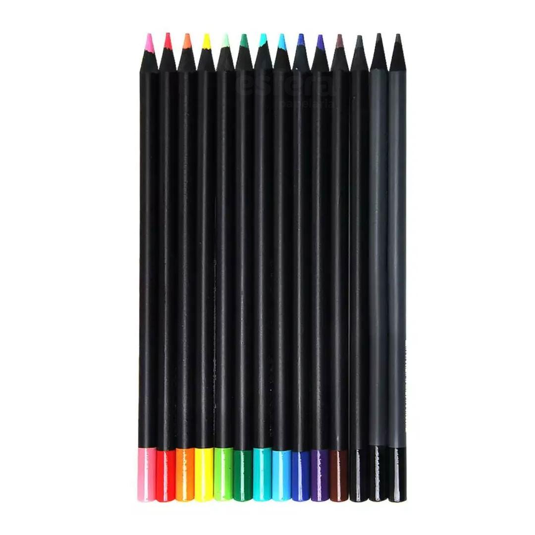 Lápis de Cor FABER-CASTELL SuperSoft com 12 Cores + 2 Lápis de escrever