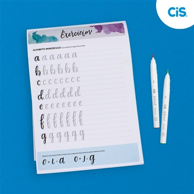 Livro Bloco Lettering Cis A4 180g 28fl Karol Stefanini