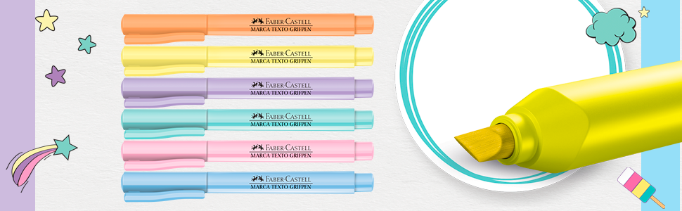 Marca Texto Faber Castell Grifpen - Tons Pastel