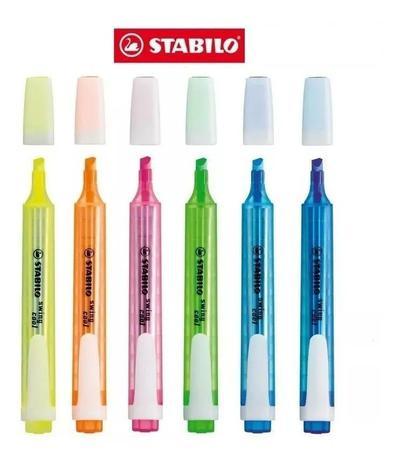 Marca Texto Fluorescente STABILO Swing Cool Estojo C/ 6 Unds Stabilo