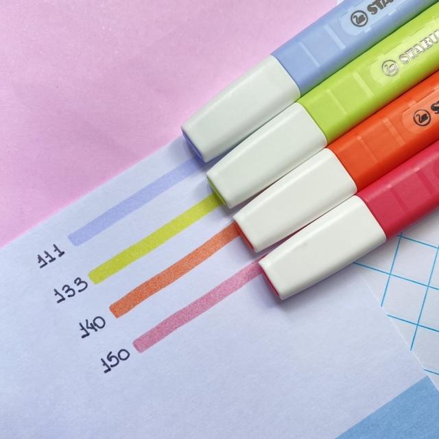 Marca Texto STABILO Swing Cool Pastel c/ 4 unds Novas Cores - NOVIDADE!!