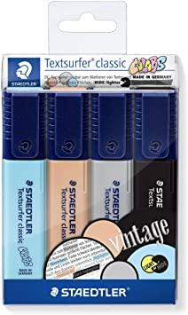 Marca Texto STAEDTLER Textsurfer Classic Vintage - Kit com 4 cores
