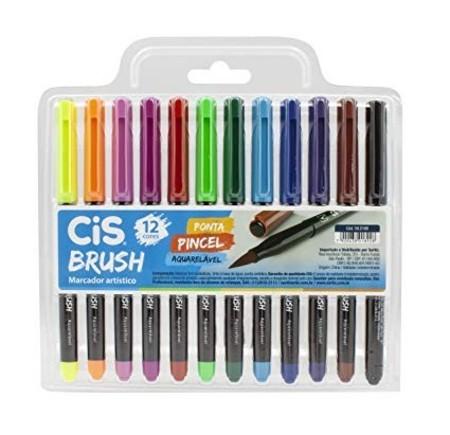 Marcador Artístico Brush CIS Brush COM 12 UNIDADES