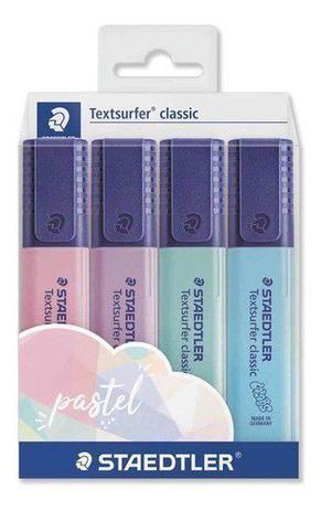Marcador de Texto Textsurfer Estojo com 04 cores Staedtler - PASTEL