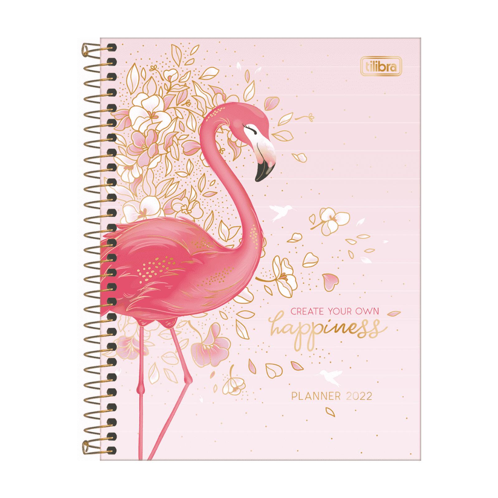 Planner 2022 Espiral Tilibra Aloha Flamingo M7 17,7 x 24cm