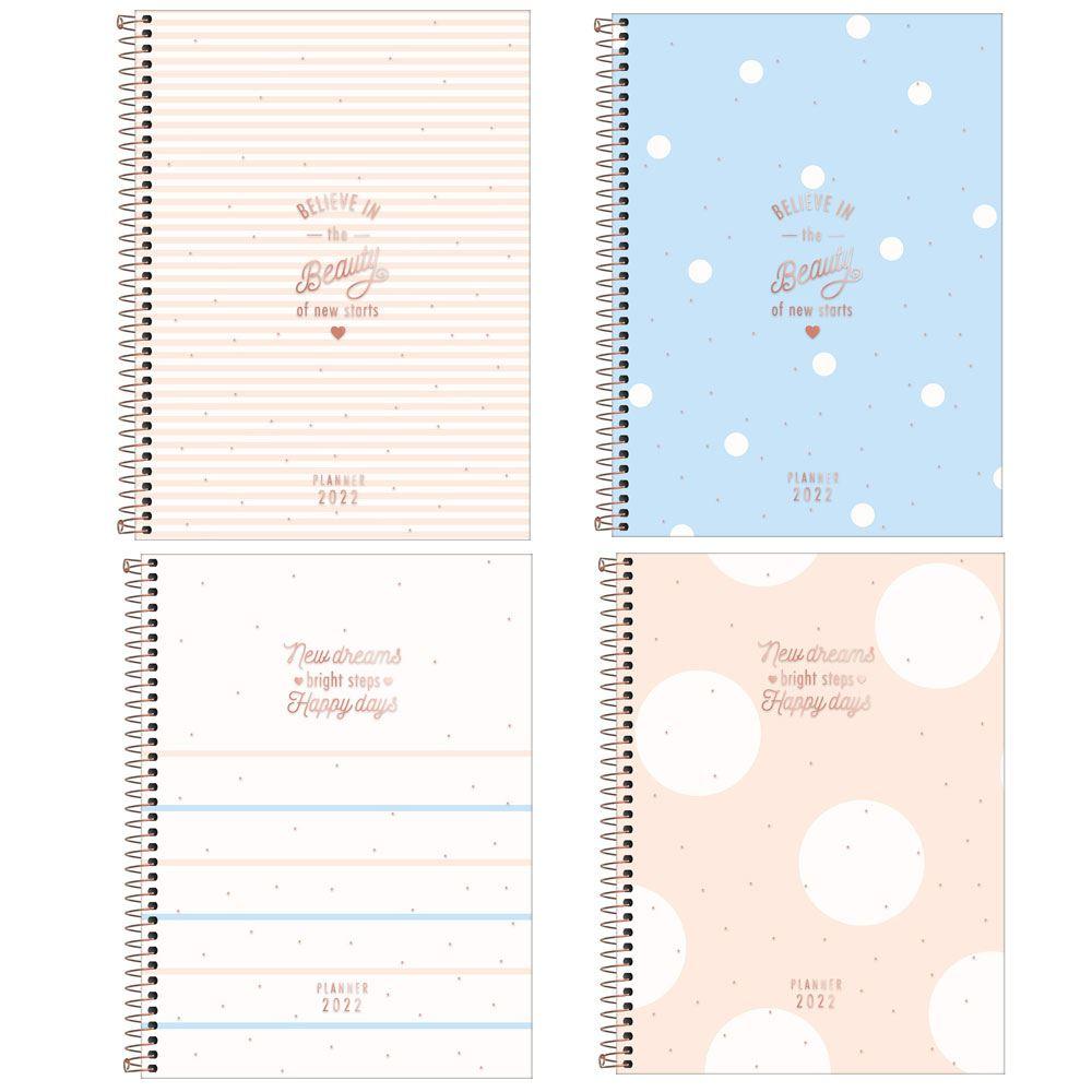 Planner Espiral 17,7 x 24 cm Soho 90 G 2022 - Sortido Tilibra