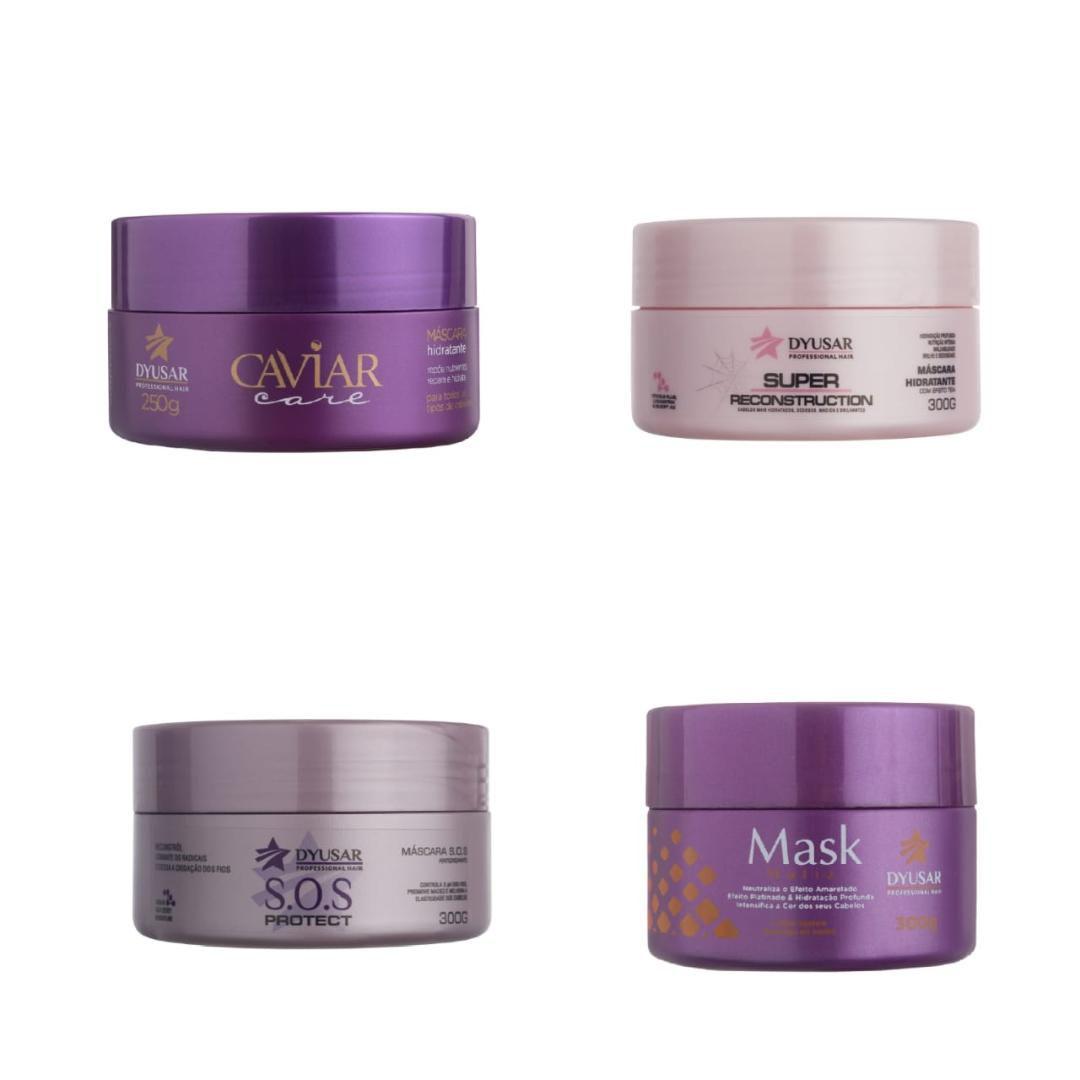 Cronograma Capilar Blond Mascaras Super + Caviar + SOS + Matizadora 300g