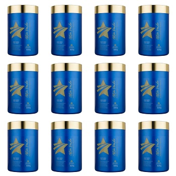 Kit 12 Pó descolorante Premium Action Powder Dyusar 500 g
