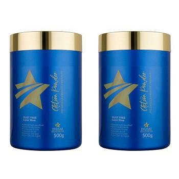 Kit 2 Pó descolorante Premium Action Powder Dyusar 500 g