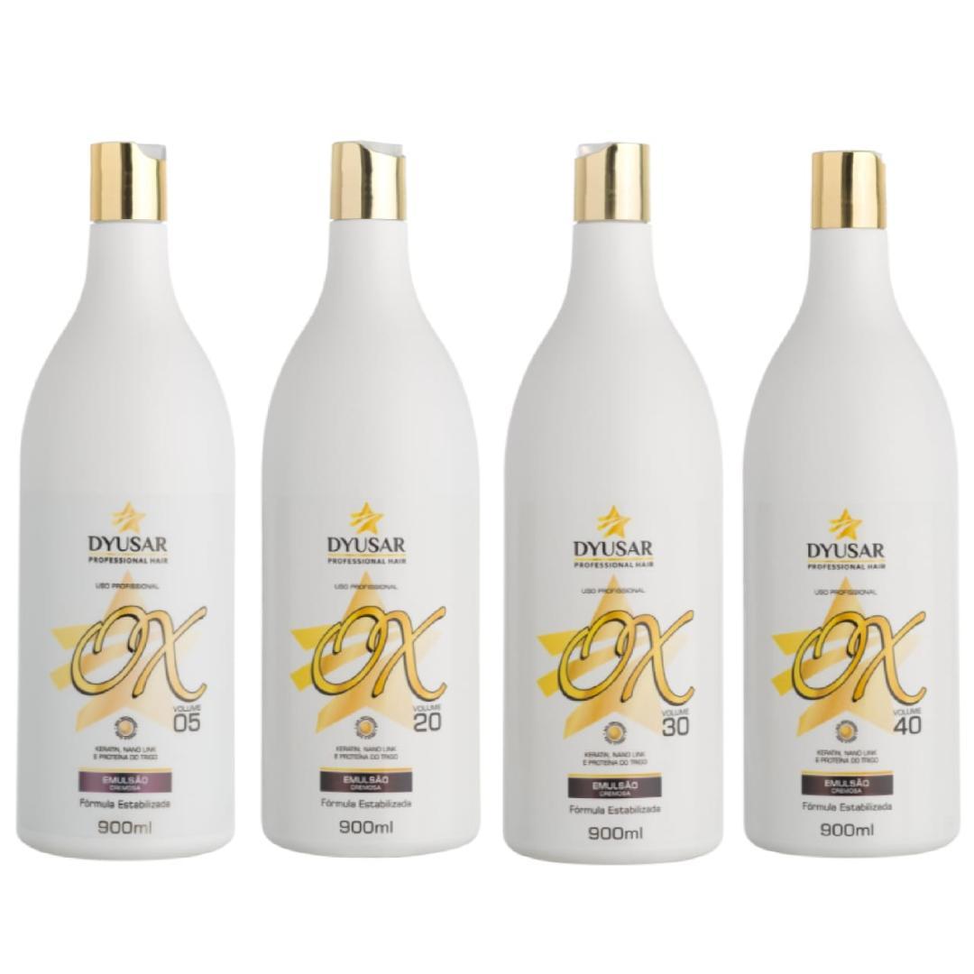 Kit 4 Oxidante Estabilizada DYUSAR Professional 900 ml