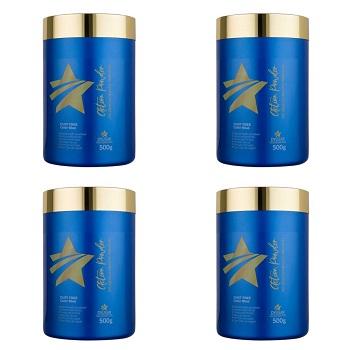 Kit 4 Pó descolorante Premium Action Powder Dyusar 500 g