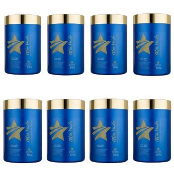 Kit 8 Pó descolorante Premium Action Powder Dyusar 500 g