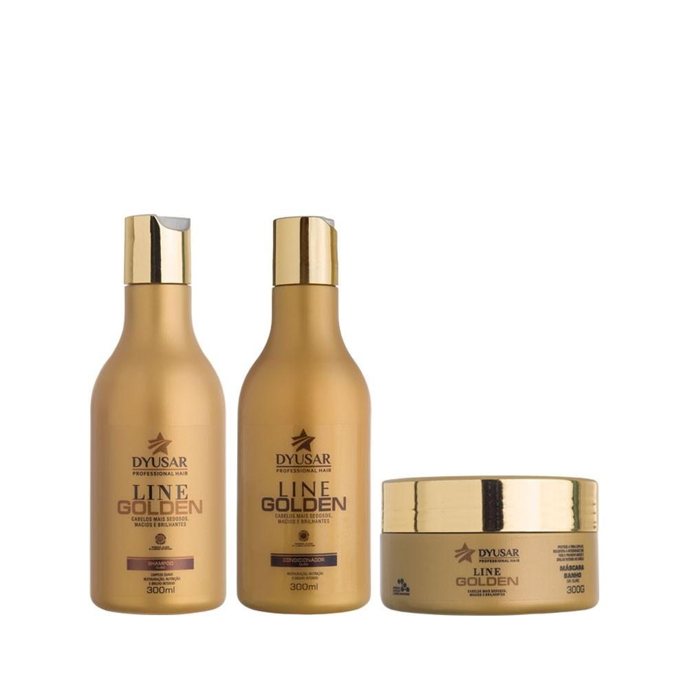 Kit Banho de Ouro Shampoo + Mascara e Condicionador 300 g