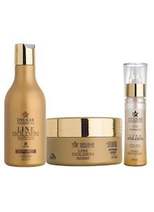 Kit banho de Ouro Shampoo + Mascara + Óleo Reparador Pequeno