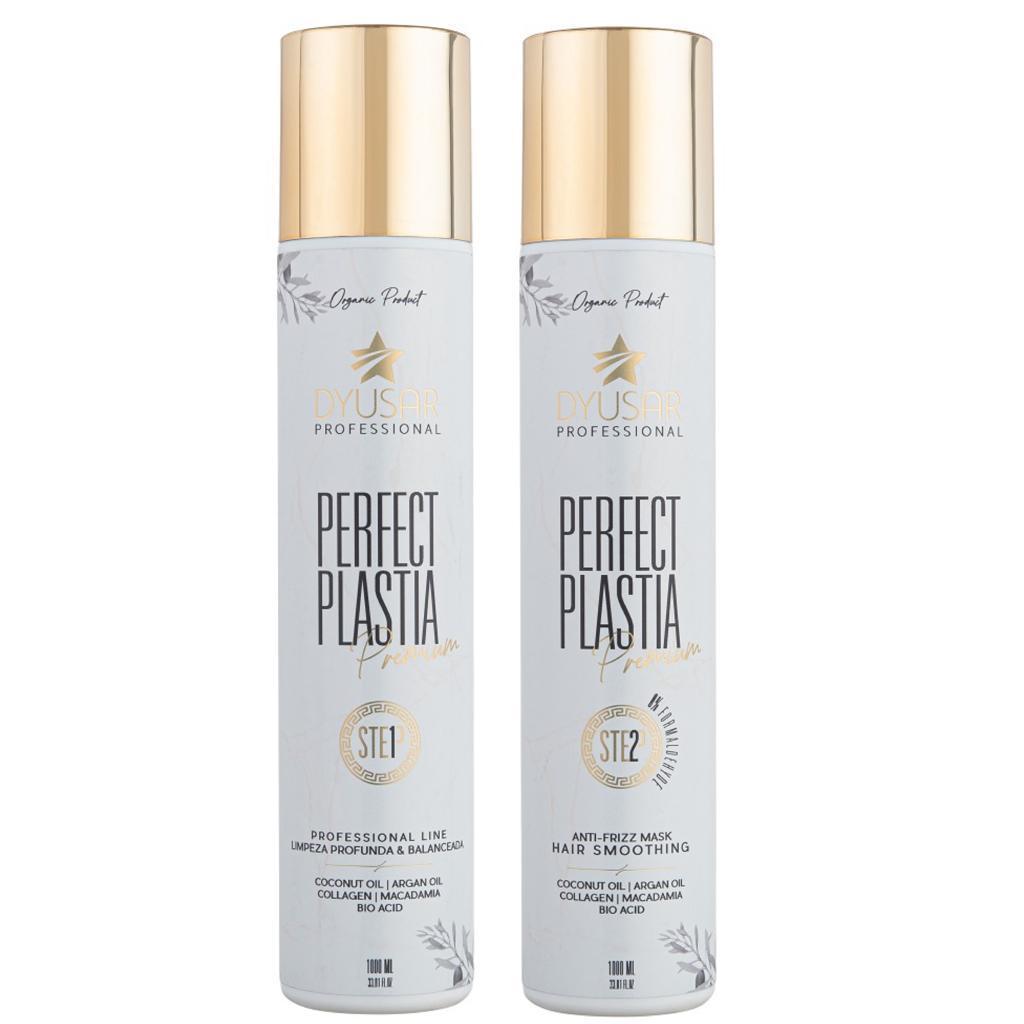 Kit Escova Progressiva Orgânica Perfect Plastia Premium 1L