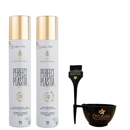 Kit Escova Progressiva Perfect Plastia Premium 1L + BRINDE