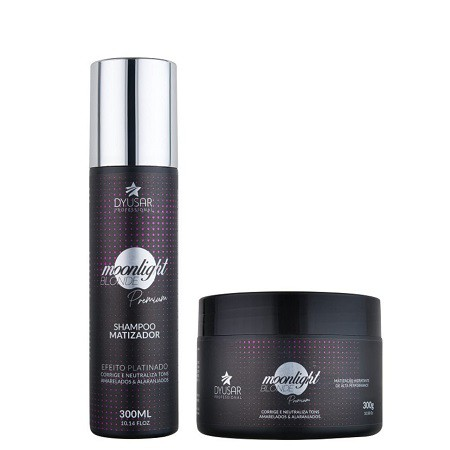 Kit Matizador shampoo+ Mascara Moonligth Blonde Premium 300ml