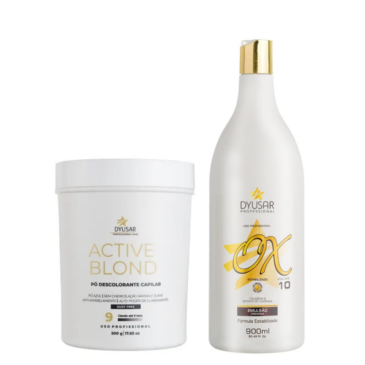 Kit Pó Active Blond+ OX 10 Volumes DYUSAR