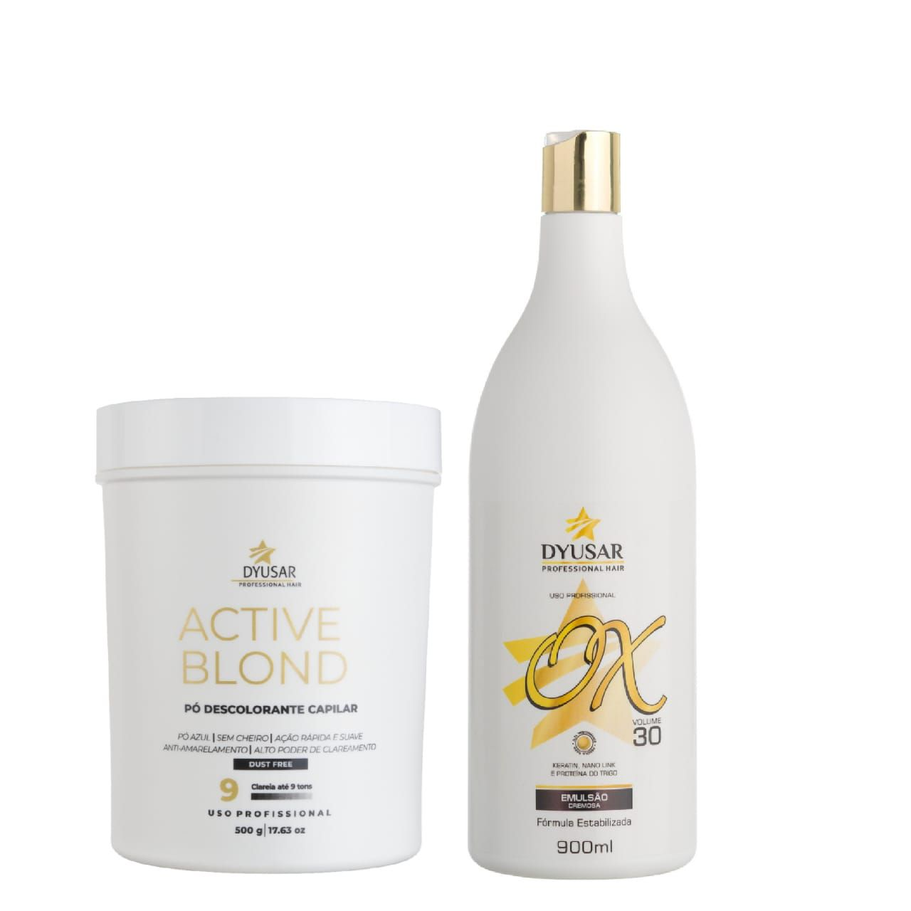 Kit Pó Active Blond+ OX 30 Volumes DYUSAR