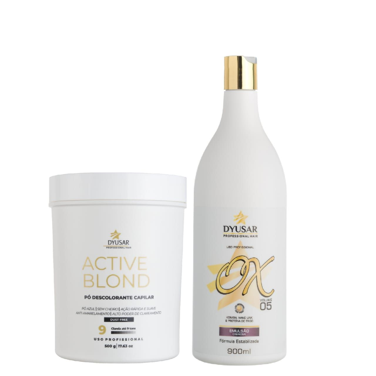 Kit Pó Active Blond + OX 5 Volumes DYUSAR