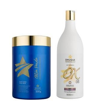 Kit Pó descolorante Premium Action Powder + Ox de 5 Dyusar