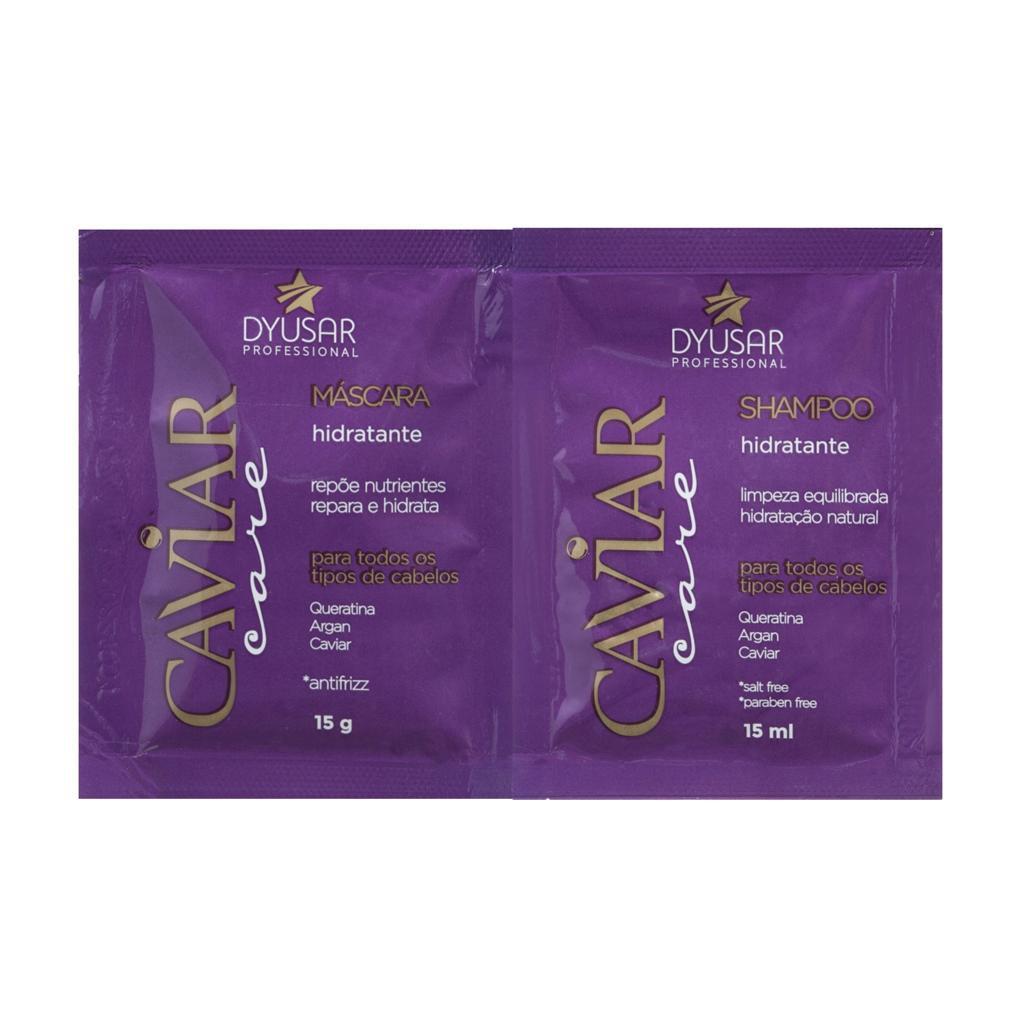 Kit Sachê Shampoo/Mascara Nutritivo Caviar Care 15g  DYUSAR