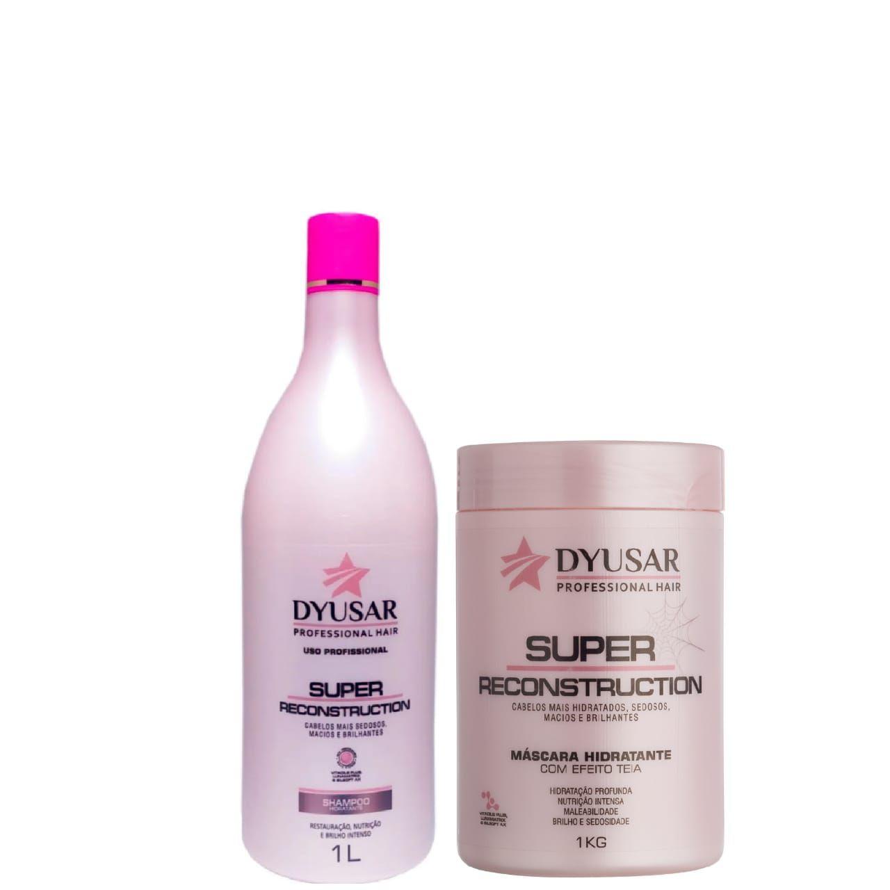 Kit Super Reconstruction Shampoo e Máscara DYUSAR Grande