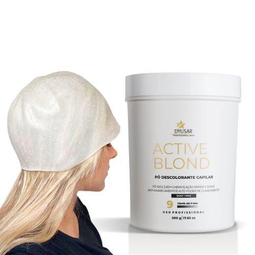 Pó Descolorante  Active  Blond  DYUSAR  Blue  500 g + TOUCA