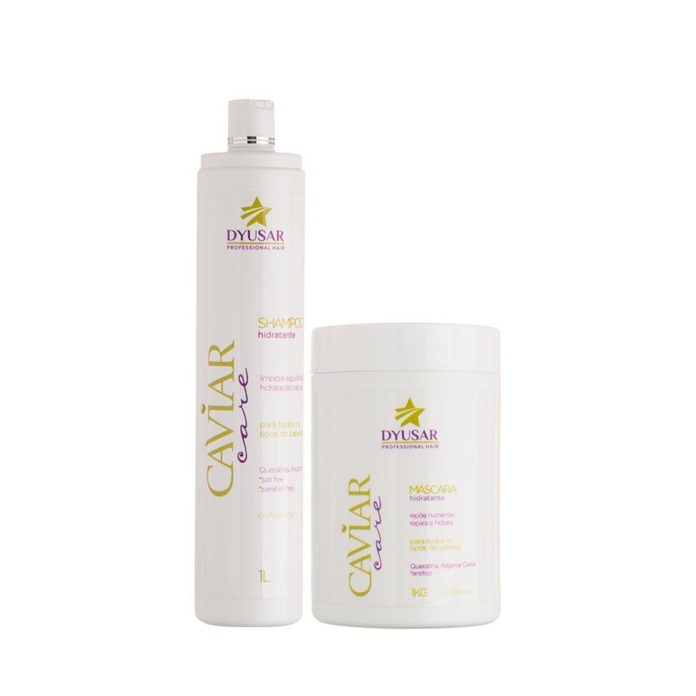 Shampoo e Máscara Nutrição e Hidratação Capilar Caviar 1 kg