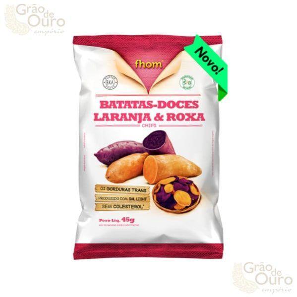 Batatas Doces laranja e Roxa 45g - Fhom