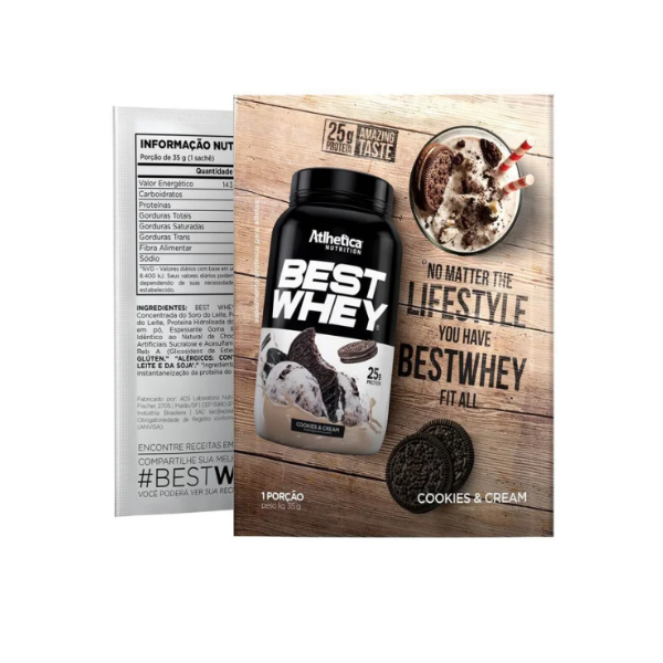 Best whey sache cookies 40g athletica