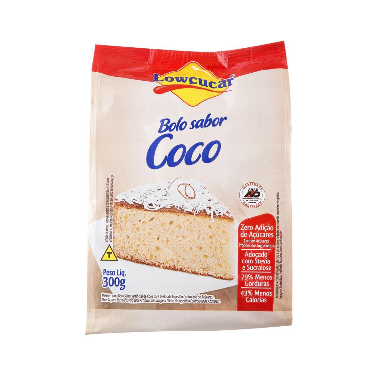 Bolo Zero Açúcar Coco 300g Lowçucar