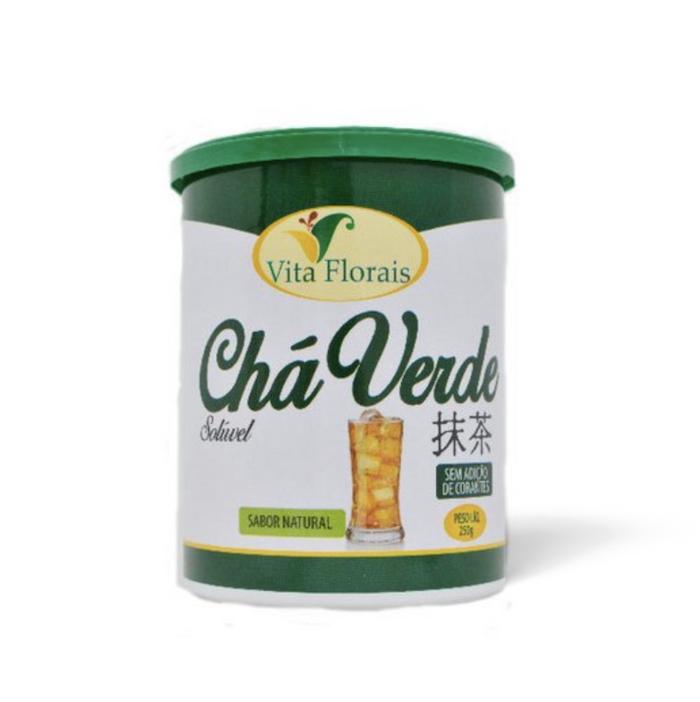 Chá Verde Solúvel Lima Limão 250g Vita Florais