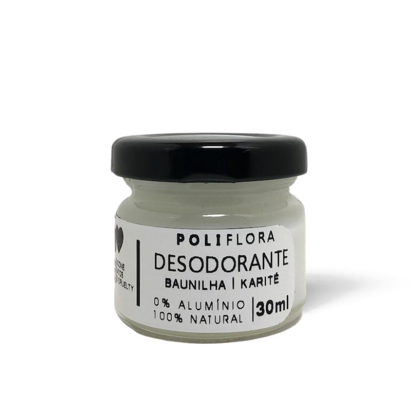 Desodorante Creme Baunilha e Karité 30g Poliflora