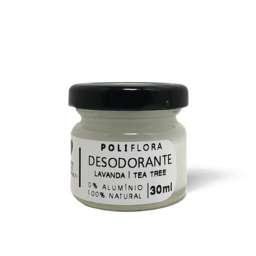 Desodorante Creme Lavanda e Tea tree 30g Poliflora