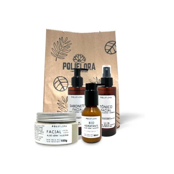 Kit Facial Aloe Vera e Verbena + Máscara Argila Branca