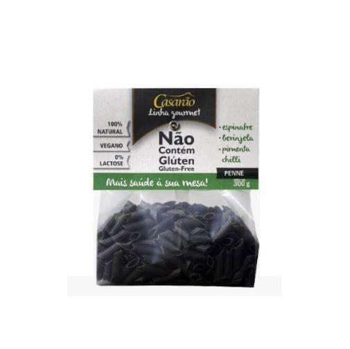 Macarrão Penne Espinafre, Berinjela e Pimenta Chilli 300g - Casarão